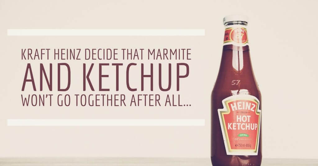 ketchup 1024x536 - Kraft Heinz decide that Marmite and Ketchup won't go together after all