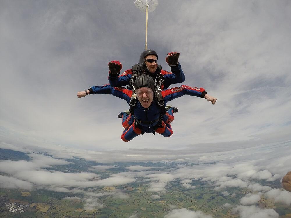 skydiveV1 - Tom Completes his Skydive!