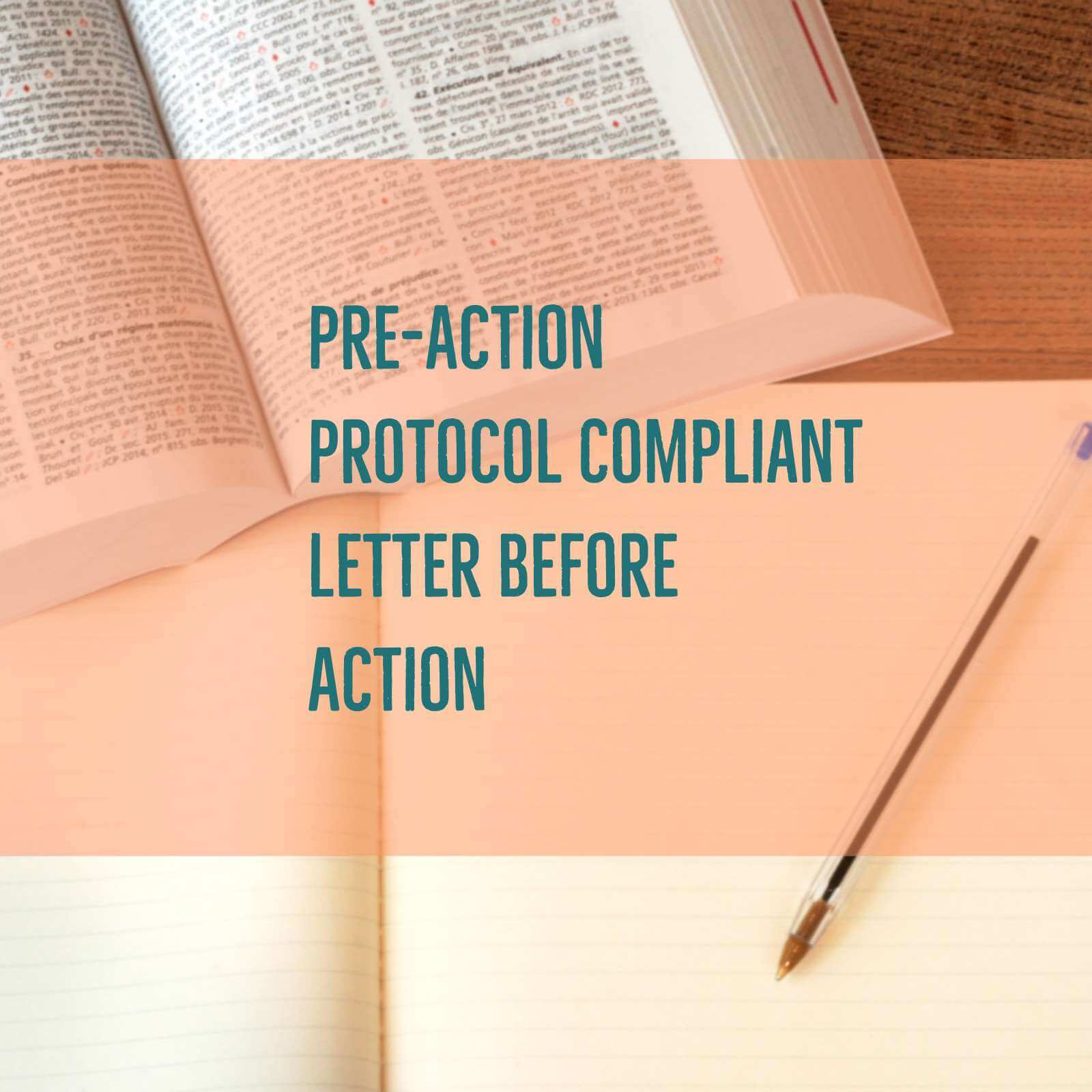 Debt recovery series no 3 pre action protocol compliant for Pre action protocol letter template