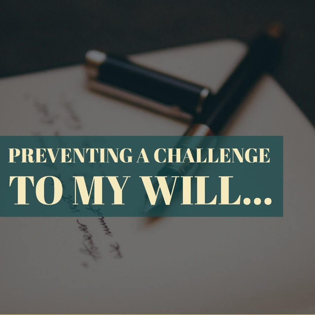 challenge to a will