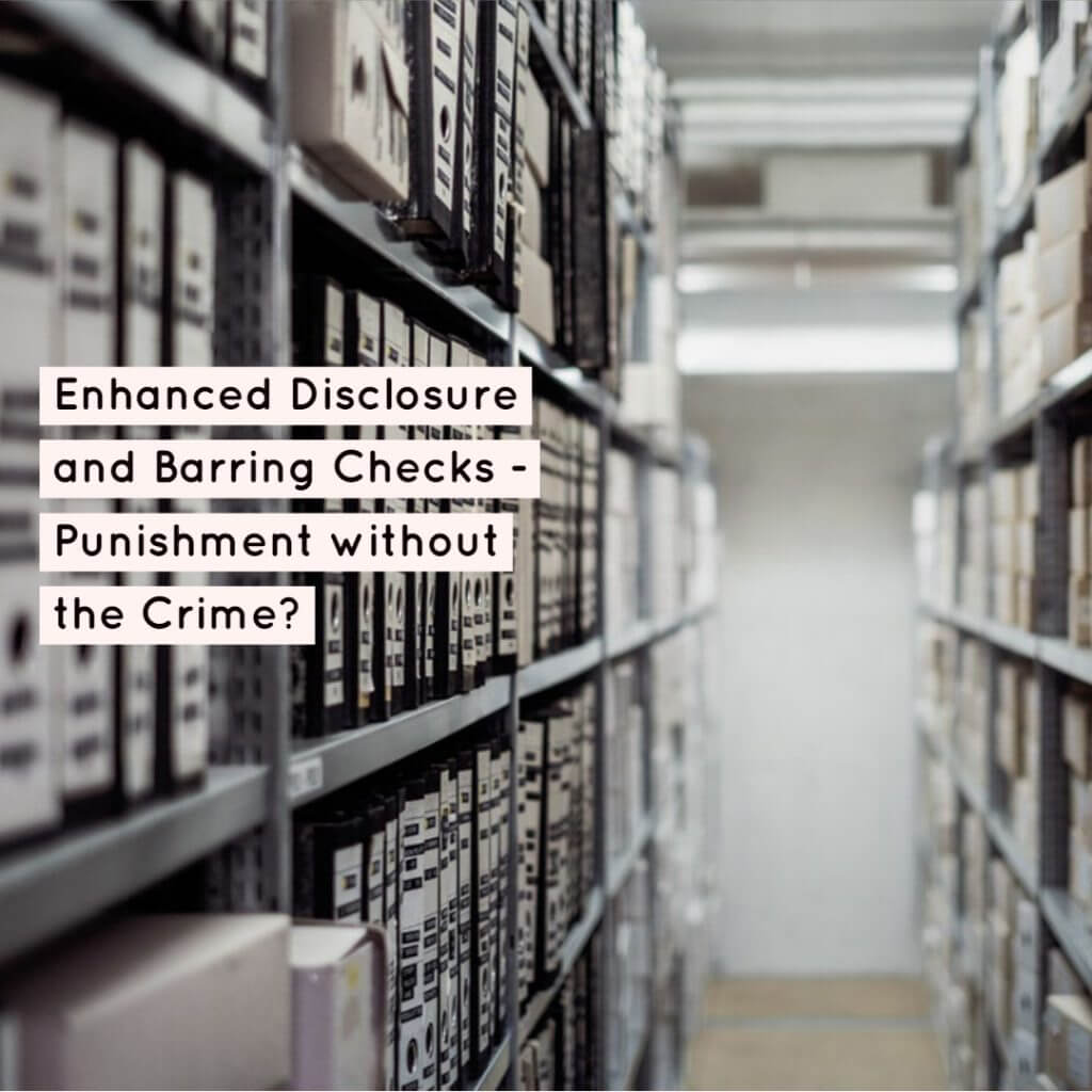 DBS 1024x1024 - Enhanced Disclosure and Barring Checks - Punishment without the Crime?
