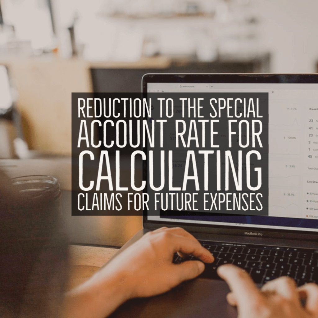 pi expenses 1024x1024 - Reduction to the Special Account Rate for calculating claims for future expenses